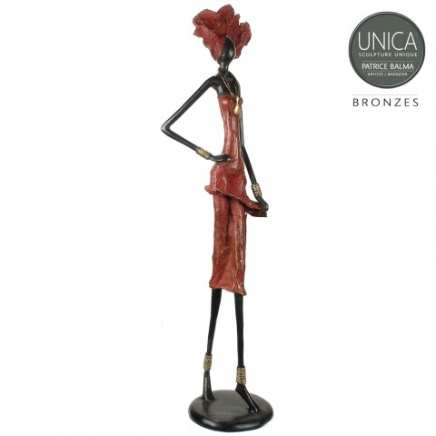 Afrikaans bronzen beeld groot titel Amabelle