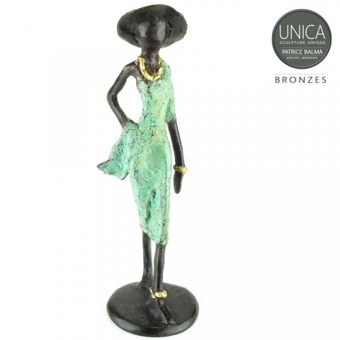 Bronzen beeldje Afrikaans Axelle Patrice Balma