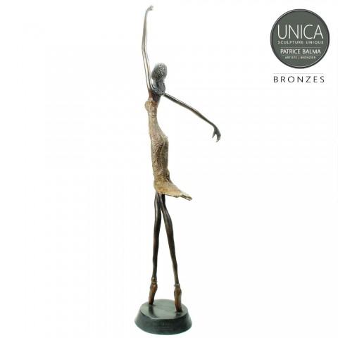Beeld Bronzen Ballerina 71cm