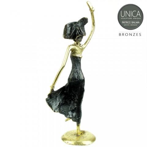 Afrikaanse Danseres bronzen beeldje