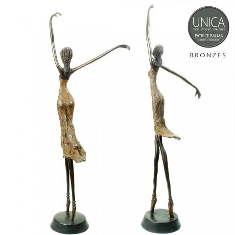 Ballerina beelden set 66cm en 71cm