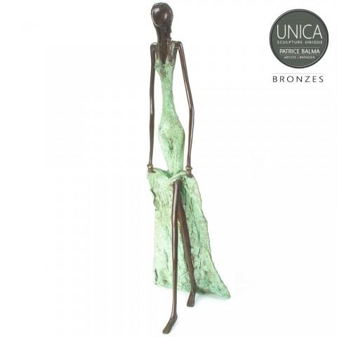 Bronzen beeld Ghylia Afrikaans