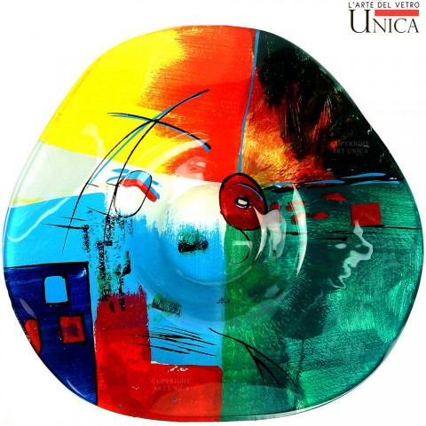 Schaal glaskunst Firenze Colore