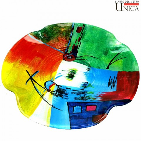 Schaal glaskunst Viareggio Art Unica