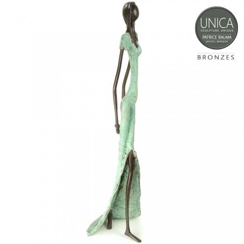 Vrouw beeld brons Afrikaans Balma