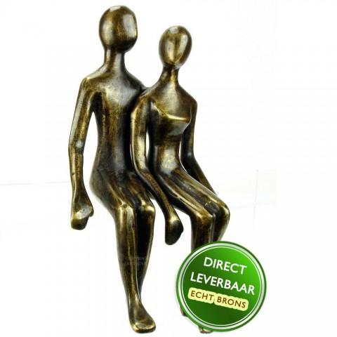 Bronzen beeld Een goed gevoel