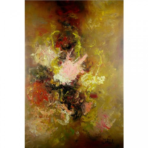 Schilderij Impressionistisch John Frel Le Grand Bouquet Inclusief Sierlijst