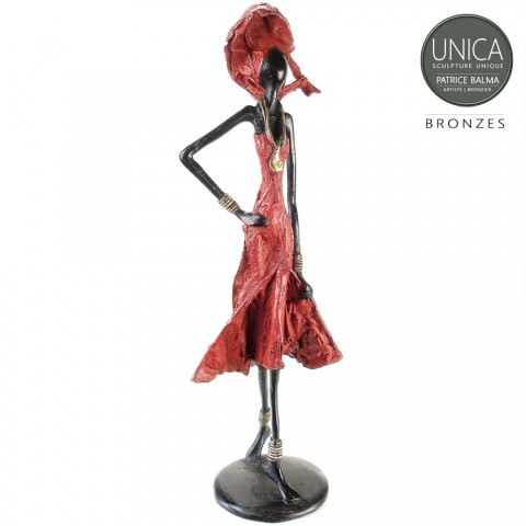 Aicha Patrice Balma beeld brons
