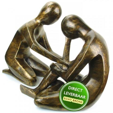 Set bronzen beelden titel Aandacht