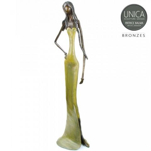 Bronzen beeld Afrikaanse vrouw titel Elegant