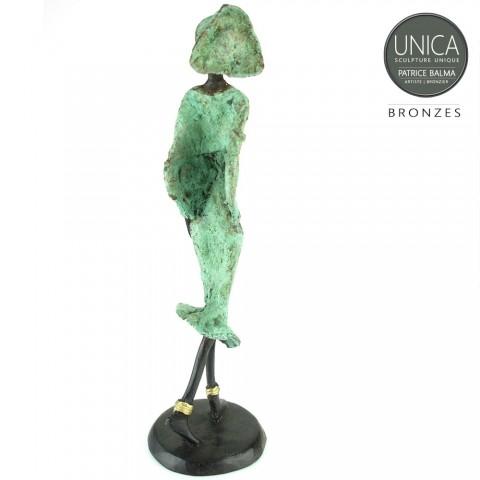 Kunst Afrika beeldje brons titel Rachida