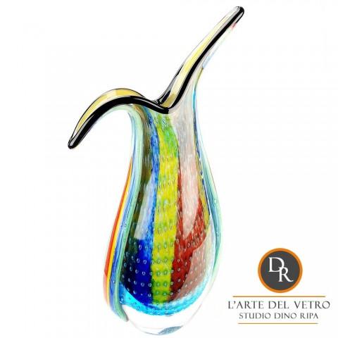 Vaas glaskunst model Modena Dino Ripa
