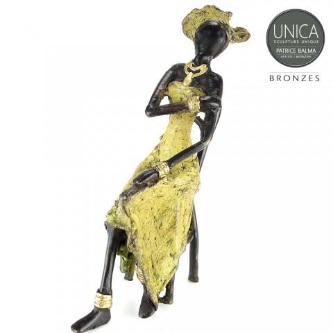 Brigette West Afrikaans beeld zittende vrouw Unica