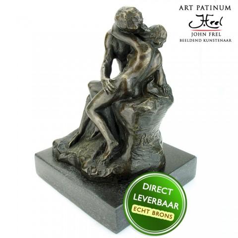 Bronzen beeld The Kiss, De Kus Art Unica
