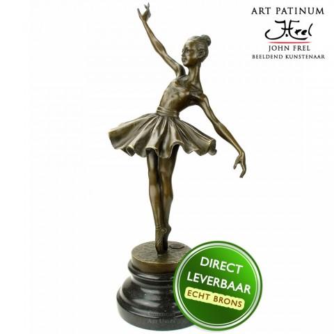 Ballerina beeldje brons