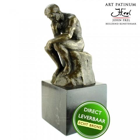 Bronzen beeld De Denker Art Unica