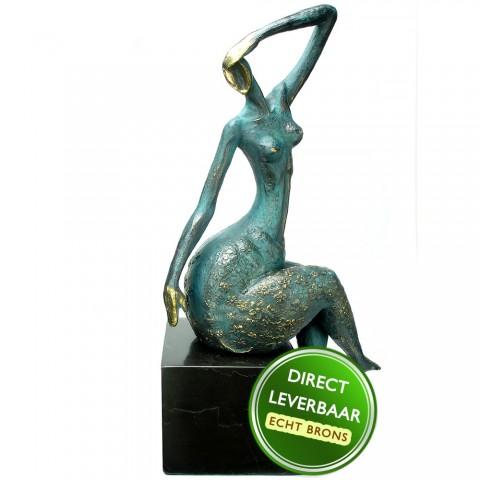 Bronzen beeld La Bella John Fre