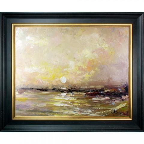 Schilderij Deep Sun met sierlijst John Frel