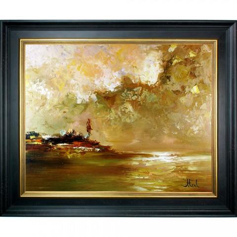 Schilderij John Frel Impressionistisch Afternoon at the Bay met sierlijst
