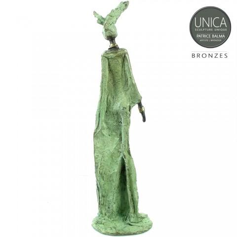 Afrikaans bronzen beeld Assetou