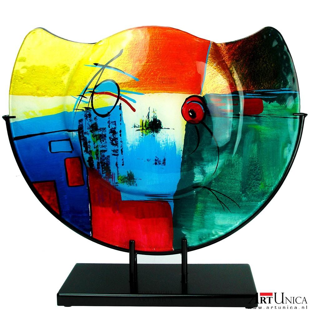 siervaas glaskunst kleurrijke glazen siervaas art unica On glaskunst vazen