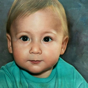 Babyportret laten schilderen