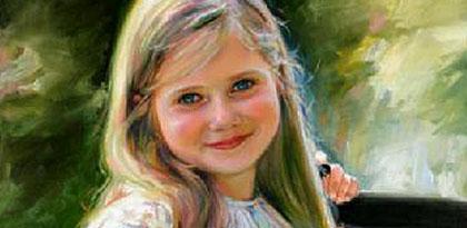 Kinderportret geschilderd Art Unica Portretschilders