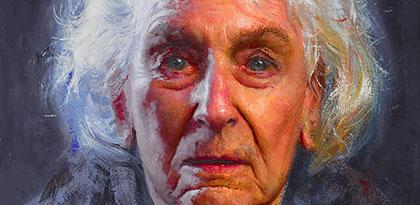 Mannenportret geschilderd Art Unica Portretschilders