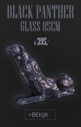 Black Panther beeld glaskunst