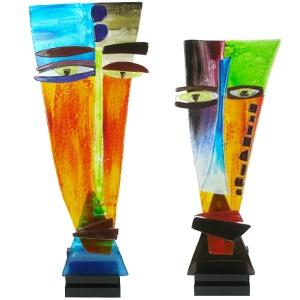 Glaskunst sculpturen Art Unica