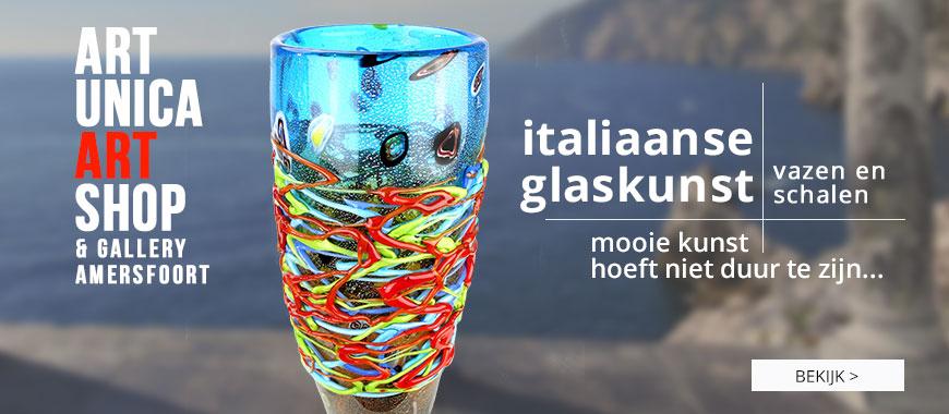 Italiaanse glaskunst vazen en schalen